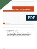 Komunikasi Interpersonal 14-15
