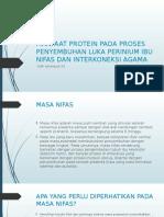 Manfaat Protein Pada Penyembuhan Ibu Nifas Dan Interkoneksi dengan agama