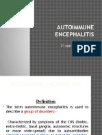 Auto Immune Encephalitis by Dr Nikhitha (Medicine Pg)