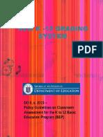 new k-12 grading system