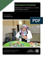 Apprenticeship Program Report