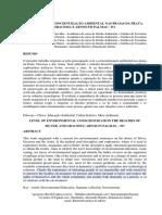Nivel de Concientizacao Ambiental Nas Praias Da Prata Graciosa e Arnos Em Palmas-To