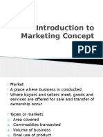 Chpt 1 - Introduction to Marketing Concept