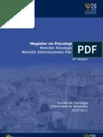 Programa 2010 Magíster en Psicología Social UV