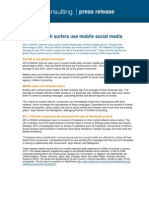 UK mobile social media use (press release)