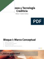Bloque I -III Procesos y Tecnología Crediticia