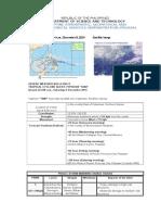 PAGASA Sample Weather Bulletin