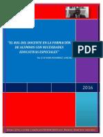 EL ROL DEL DOCENTE EN LA FORMACIÓN DE ALUMNOS CON NECESIDADES EDUCATIVAS ESPECIALES