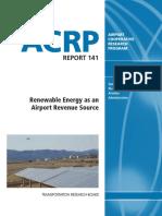 Acrp Rpt 141 Renewable Energy