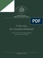 Criterios Inadmisibilidad Tribunal Constitucional