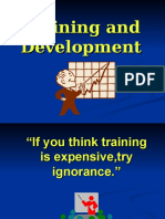 Training and Development - Power Point Presentation