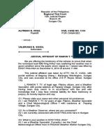 Judicial Affidavit Sample