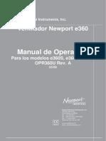 Manual de Usuario Newport e360 en Español