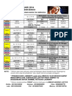 Jadwal Lektor FEBRUARI 2014