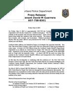Cortland PD Press Release