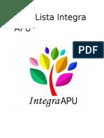 Lista Integra APU