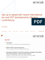 International Tax and Vat Developments Luxembourg 2014