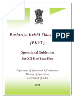 Rashtriya Krishi Yojana Guildlines 2014