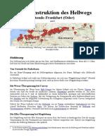 Die Rekonstruktion des Hellwegs Ostende-Frankfurt (an der Oder)