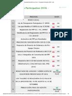 Municipalidad Distrital de Los Olivos - Presupuesto Participativo 2016 - Mdlo