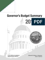 Gov. Brown Budget Proposal 2016-2017