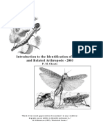 Introduction to the Identification of Insects and Related Arthropods - P. M. Choate