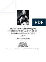 Quantz Trio Sonata in D Major - Cello Part