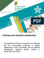 Informe Gestión Ambiental 2015_CIMM
