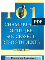 101 Champ Plan of Reso Students