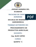 Trabajo Autonomo de Procesamiento de Productos Agricolas