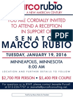 Rubio Invitation