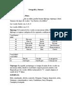 Ortografía y Sintaxis