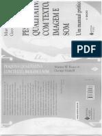 Entrevistas Individuais e Grupais - Pesquisa Qualitativa Com Texto Imagem e Som Bauer Gaskell