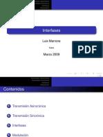 presentación de interfases en com de datos