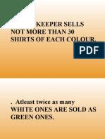 Green & White Shirts Sum