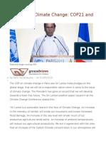 Addressing Climate Change COP21 and Sri Lanka