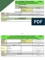 2015-16 testing calendar