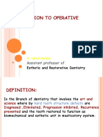 Introduction to Operative Dentistry by Dr.ashraf