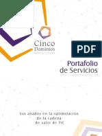 Portafolio de Servicios - Cinco Dominios