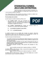 Classification Juridique Des Entreprises Au Maroc