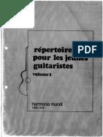 Repertoire Pour Les Jeunes Guitaristes Vol 1