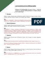Normes de La Présentation de La Bibliographie