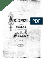 P de Sarasate Airs Espagnols Op.18