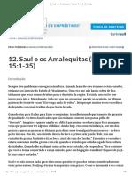 12. Saul e Os Amalequitas (I Samuel 15-1-35) _ Bible