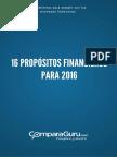 16 Propósitos Financieros para 2016