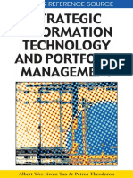 Strategic Information Technology and Portfolio Management (IGI Global 2009)