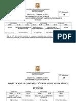 Horario Maestria Dceb 2014-II