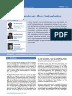 Warum sich Kunden an Mass Customization beteiligen