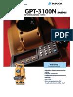 0811~1390~801 Jual Total Station Topcon GTS-255n, GPT 3100N-Series