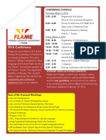 FLAME Conference 2016 Newsletter Flyer - PDF